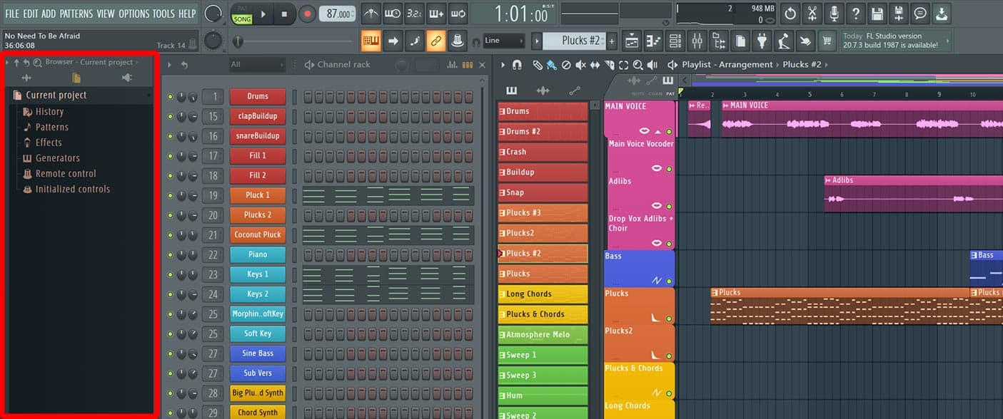 file browser fl studio