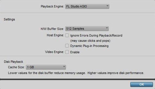 general audio settings