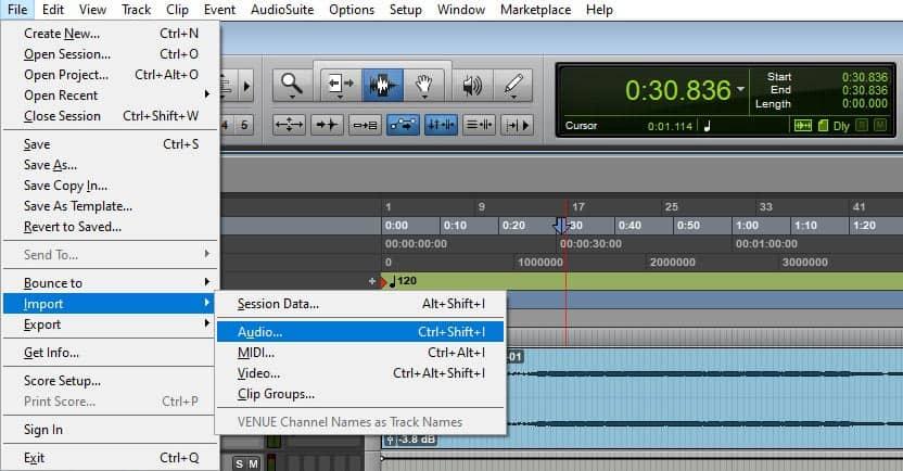 import tracks file pro tools