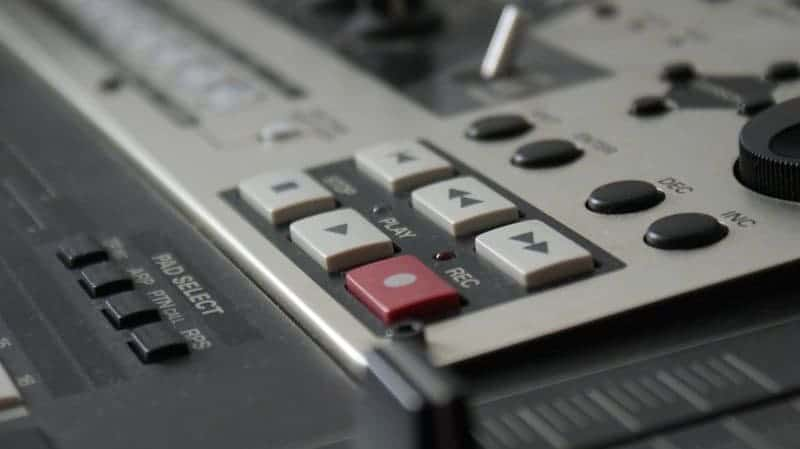 tasto rec mixer