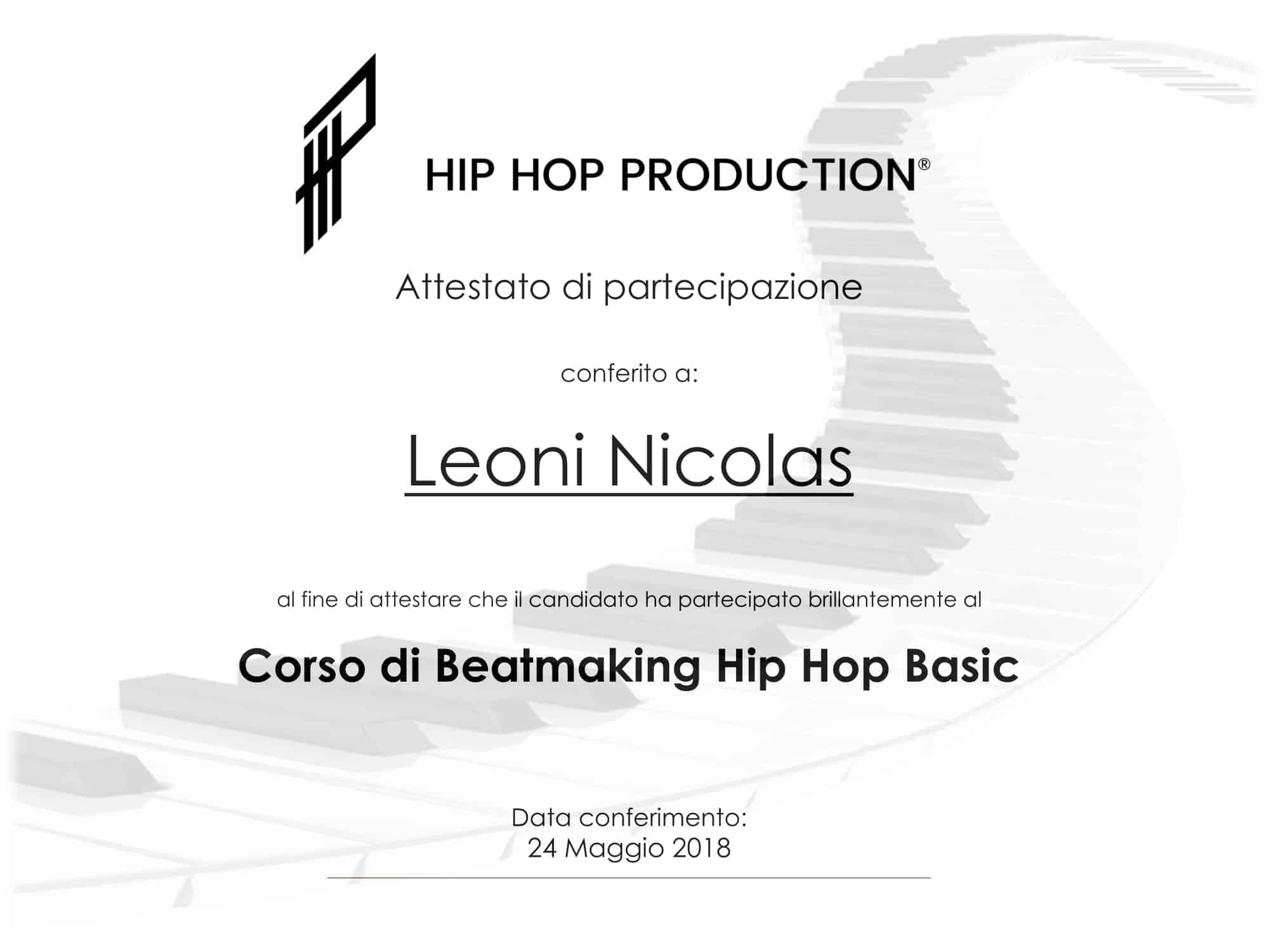 attestato beatmaking